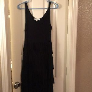 Spense size Small black dress w/ tassels in skirt